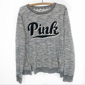 PINK Victoria Seceret Crew Sweatshirt Zip Sides